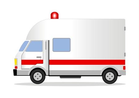 een ambulance Vector Illustratie