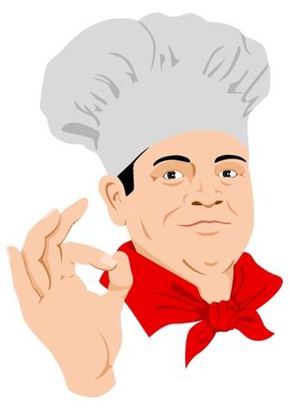 un chef cuisinier Vecteurs