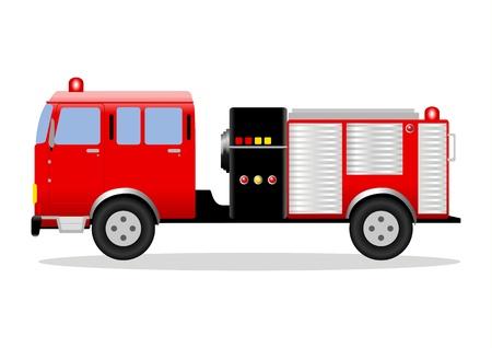 brigade: a fire engine