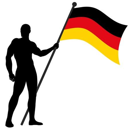 deutsch: a flag bearer Illustration