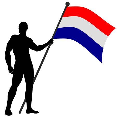 Vector illustration of a flag bearer Stock Vector - 9504565