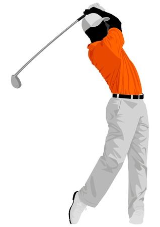 columpios: Ilustraci�n vectorial de un golfista.