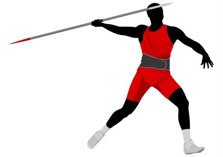 javelin: Vector illustration of javelin thrower Illustration