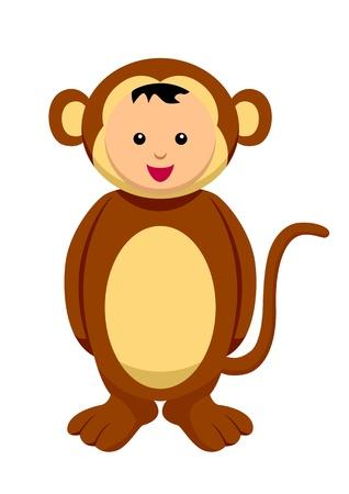 Kid with monkey costume Stock Vector - 9504558