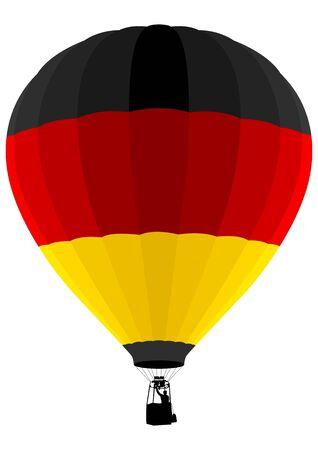 bandera alemania: Bandera de Alemania, globo de aire Vectores