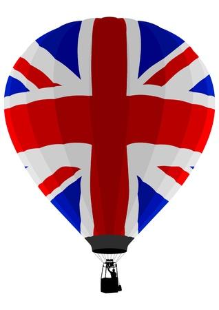 bandera de reino unido: Bandera de globo, UK de aire  Vectores