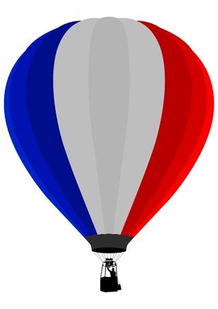 Air Balloon, France Flag Illustration