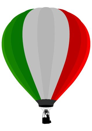 float fun: Air Balloon, Italian Flag