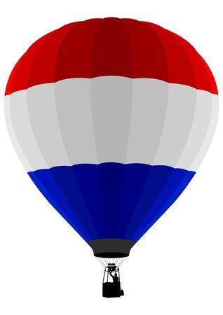 Air Balloon, Netherlands Flag Stock Vector - 9599870
