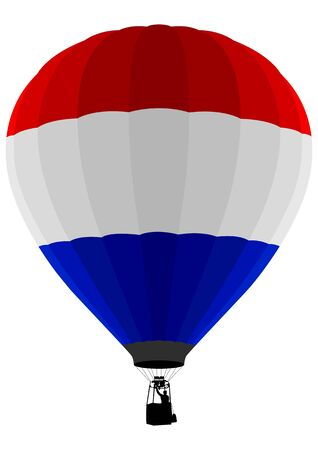 the netherlands: Vlag van lucht ballon, Nederland