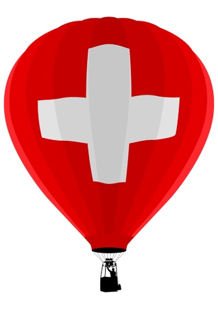 Air Balloon, Switzerland Flag Stock Vector - 9599871