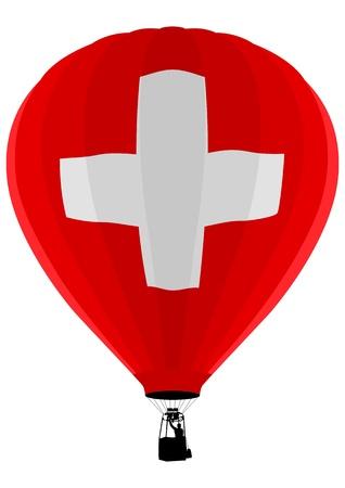 Air Balloon, Switzerland Flag Stock Vector - 9599871