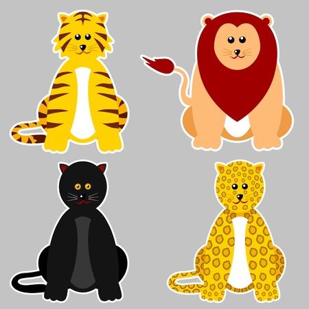 Felidae Family Vector