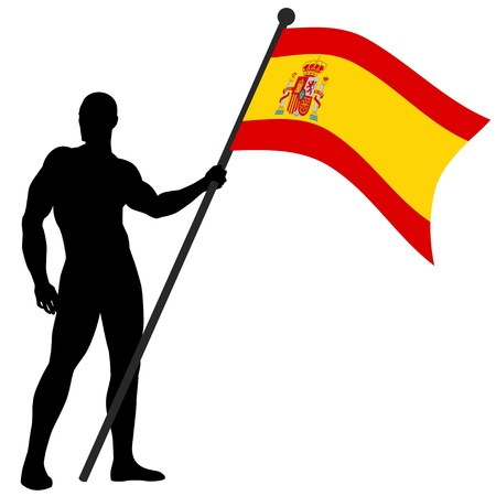 illustration of a flag bearer  Stock Vector - 9599943