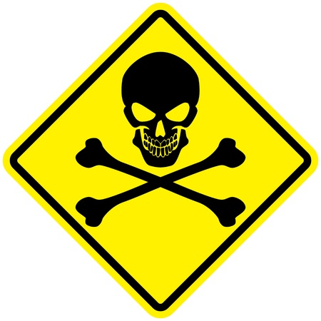 poison sign: Jolly Roger Sign Illustration