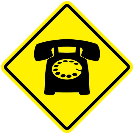 dialing: Telephone Sign