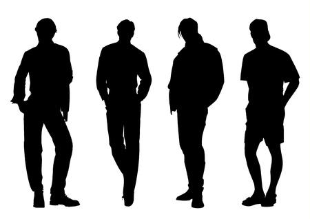 illustration of men silhouette Stock Vector - 9599940