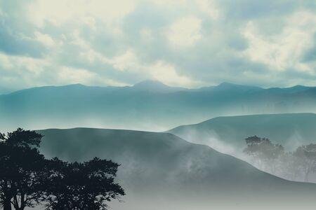 Misty Mountain Stock Photo - 9599874