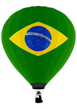 brazilian: Air Balloon, Brazilian Flag Illustration