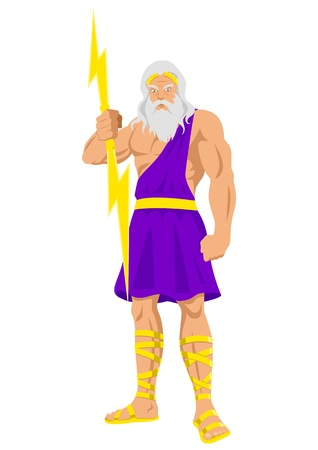 heroic: illustration of Zeus, the Father of Gods and men Illustration