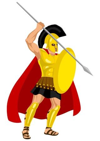 Ares, es el dios griego de la guerra. Es uno de los dioses olímpicos y el hijo de Zeus y Hera Foto de archivo - 9929416