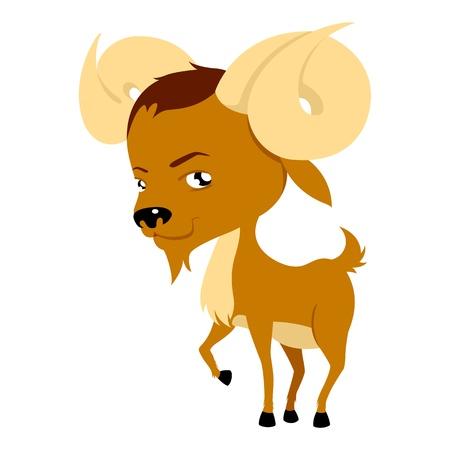 aries: Ilustración de Aries en estilo de dibujos animados