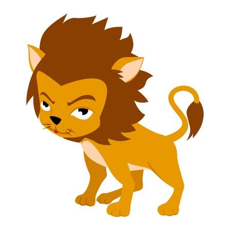 kiddies: Ilustraci�n vectorial de Leo en el estilo de dibujo animado