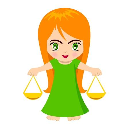 Vector illustration of Libra in cartoon style Stock Vector - 9930577
