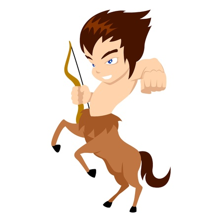 Vector illustration of Sagittarius in cartoon style Vector
