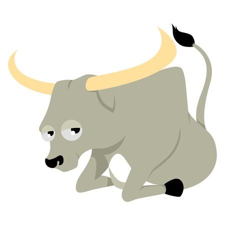 kiddies: Ilustraci�n vectorial de Tauro en el estilo de dibujo animado Vectores