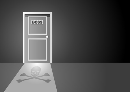 closed door: Vector illustration of boss door
