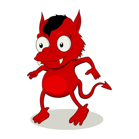 a little red devil  Vector