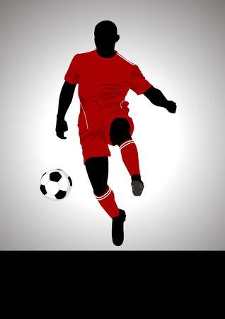 liverpool: Soccer player Illustration