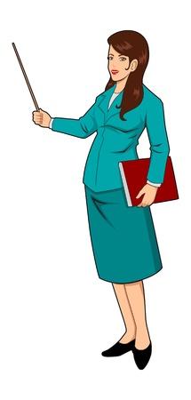 Vector illustration of a teacher Stock Vector - 10270745