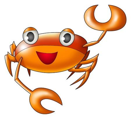 cancer crab: Aibrushed  Illustration of Cancer symbol