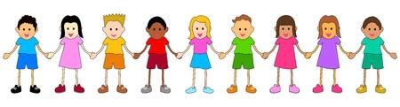 illustration of children from various ethnic group  Illustration