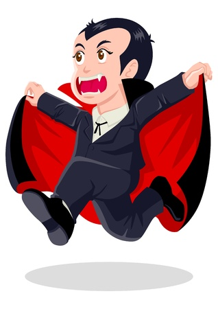 cartoon vampire: Cartoon illustration of Dracula