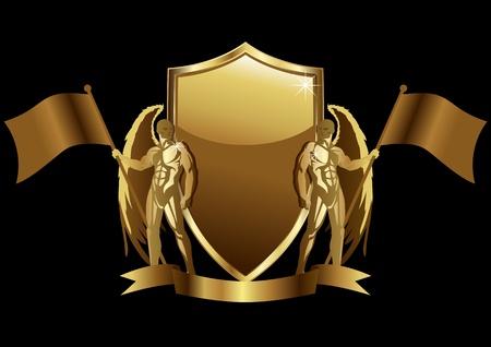 Vector illustration d'un emblème d'or