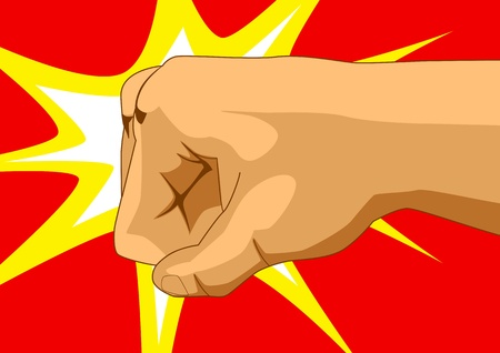 strong arm: Vector illustration of a fist
