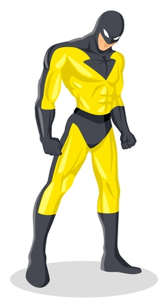 Vector illustration of a superhero in a mask Vector