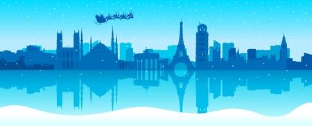 유명한: 산타는 유럽을 여행