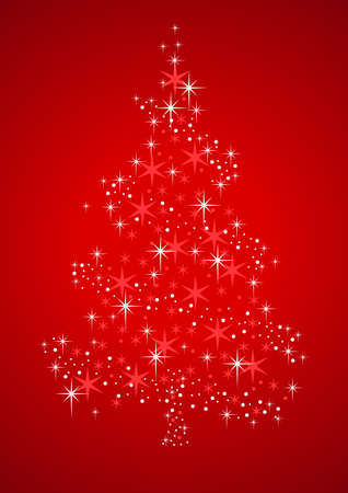 Vector illustration of a Christmas Tree formed from stardust Vector