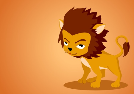 Vector illustration of Leo in cartoon style