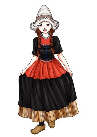 Nederlands meisje in klederdracht