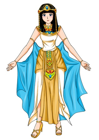 ancient egyptian culture: Illustration of an Egyptian princess