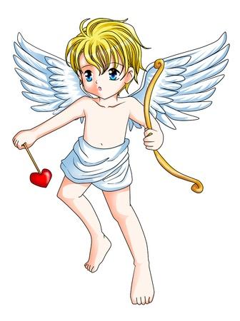 Cartoon illustration of a Cupid illustration