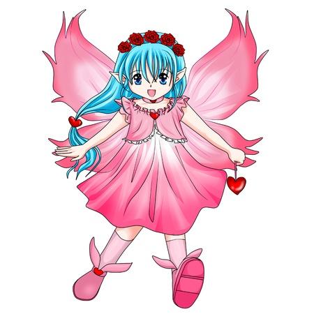 Cartoon illustration of a pixie illustration