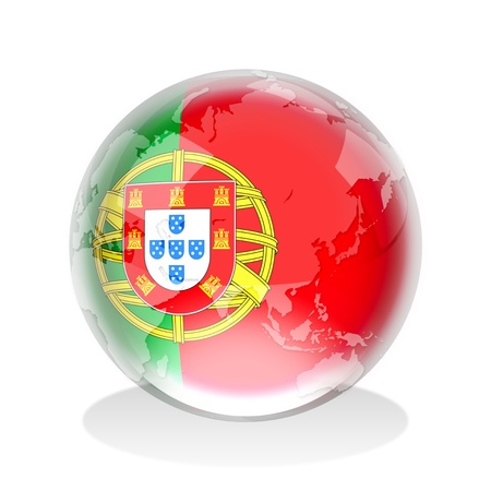 portugal flag: A marbles with Portugal insignia