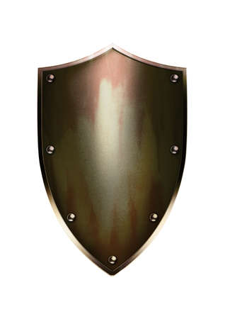 shinny: Stock image of rustic shield
