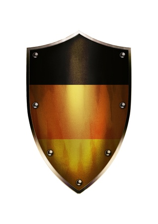 The shield of Germany flag with rustic effect